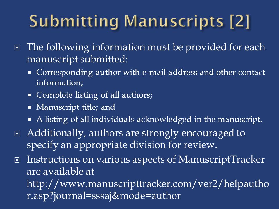 Submitting Manuscripts [2]